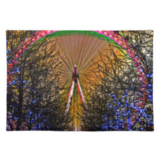 Ferris Wheel Christmas Lights Placemat