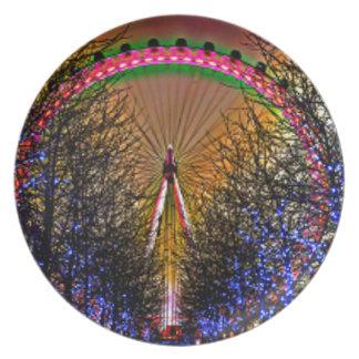 Ferris Wheel Christmas Lights Plate