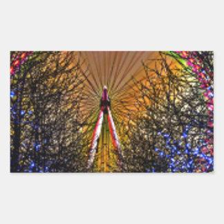 Ferris Wheel Christmas Lights Rectangular Sticker