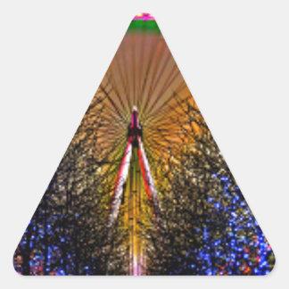 Ferris Wheel Christmas Lights Triangle Sticker