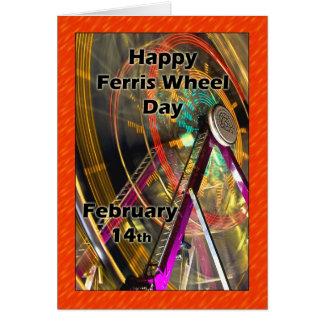Ferris Wheel Day February 14 Card