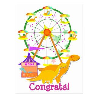 Ferris Wheel Dinosaurs Postcard