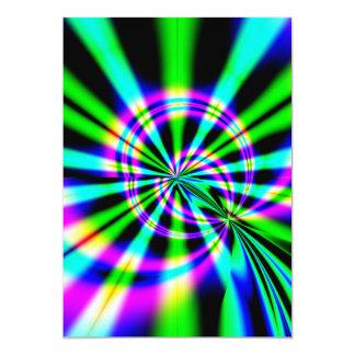 Ferris Wheel Fractal Art 13 Cm X 18 Cm Invitation Card