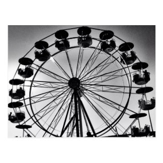 Ferris Wheel in Black and White Photo Gifts Postcard