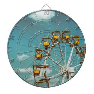 Ferris Wheel In Fun Park On Blue Sky Dartboard