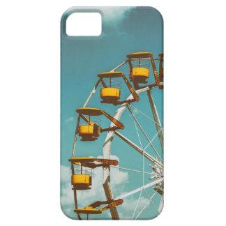 Ferris Wheel In Fun Park On Blue Sky iPhone 5 Cases