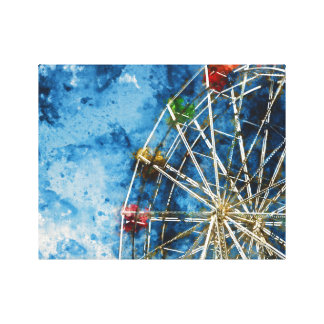 Ferris Wheel in Santa Cruz California Canvas Print