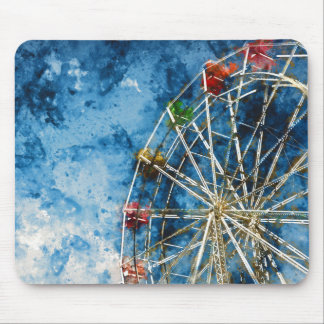 Ferris Wheel in Santa Cruz California Mouse Pad