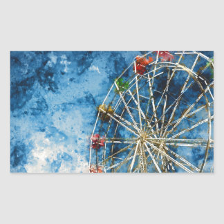 Ferris Wheel in Santa Cruz California Rectangular Sticker