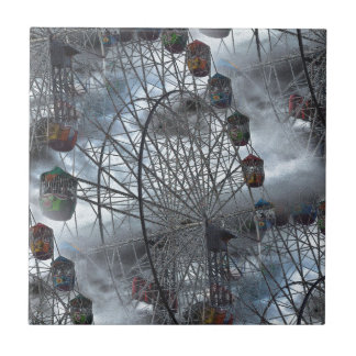 Ferris Wheel in the Clouds Ceramic Tile
