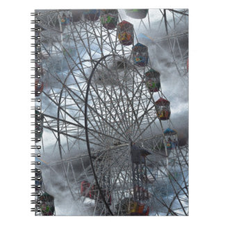 Ferris Wheel in the Clouds Spiral Notebook