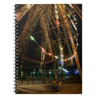 Ferris Wheel in Turkmenistan: Cool Vintage Photo Spiral Notebook
