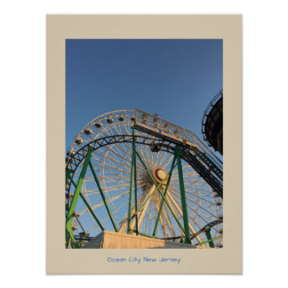 Ferris Wheel Ocean City New Jersey Poster