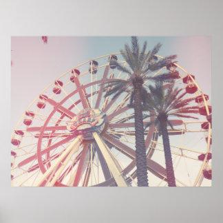 Ferris Wheel & Palms Poster