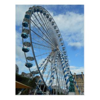 Ferris Wheel Paris Postcard