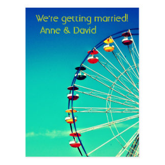 Ferris Wheel Save the Date Post Card