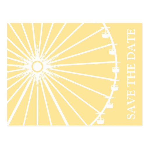 Ferris Wheel Save The Date Postcards (Yellow)