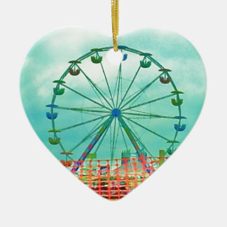 Ferris Wheel Spring Fest Misquamicut Beach Ceramic Ornament