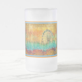 Ferris Wheel Summer Rustic Grunge Abstract Fun Mug