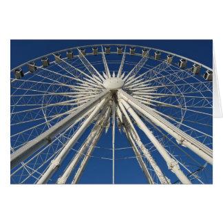 Ferris Wheel Symmetry Greeting Cards