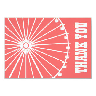 Ferris Wheel Thank You Card (Coral / White) Personalized Announcements