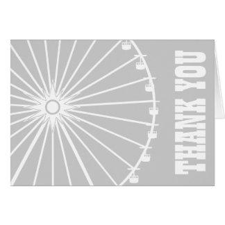 Ferris Wheel Thank You Card Silver White
