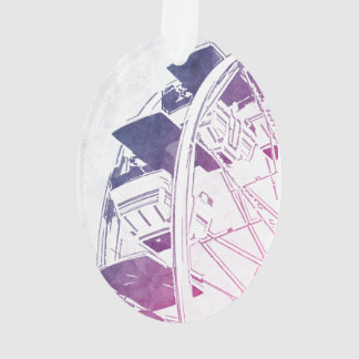Ferris Wheel Watercolor Ornament