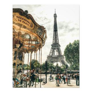 Ferris Wheels in Paris Photo Print