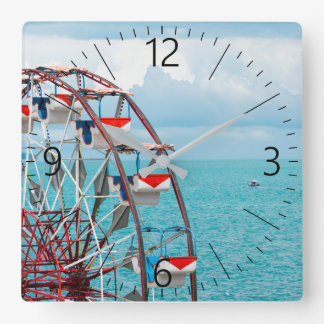 Ferris whell square wall clock