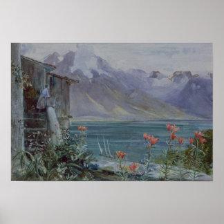 Ferritet, Lake Geneva, 1882 Poster