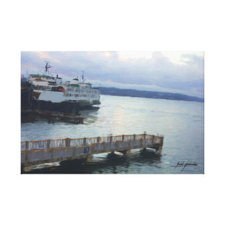 Ferry at Dusk Canvas Print