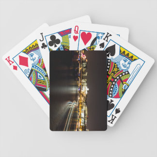 Ferry at night bicycle playing cards