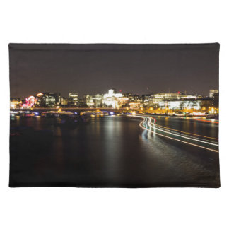 Ferry at night placemat