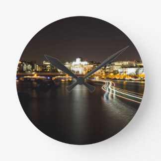 Ferry at night round clock