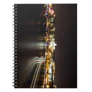 Ferry at night spiral notebook