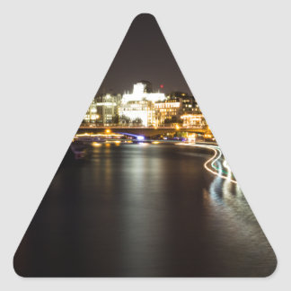 Ferry at night triangle sticker