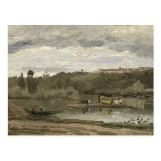 Ferry at Varenne-Saint-Hilaire, 1864 Postcard
