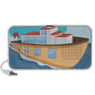 Ferry Boat Cartoon Speaker System