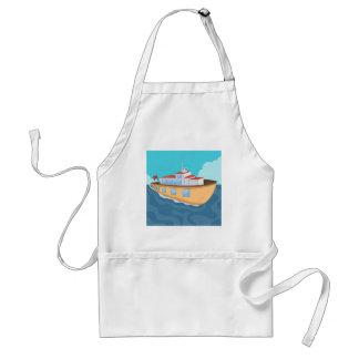 Ferry Boat Cartoon Standard Apron