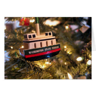Ferry Boat Holiday Card