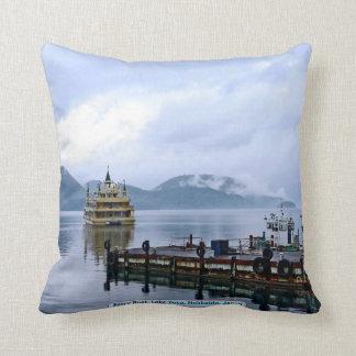 Ferry Boat, Lake Toya, Hokkaido, Japan Cushion