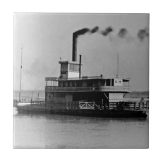 Ferry boat on the Mississippi tile