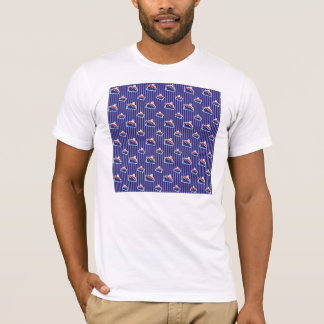 Ferry Boats on Nautical Blue T-Shirt