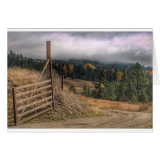Ferry County Autumn Greeting Card