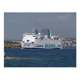 Ferry Isla De Botafoc Postcard