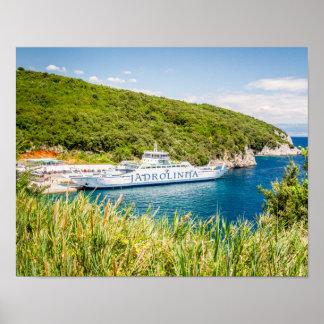 Ferry JADROLINIJA, Croatia Poster