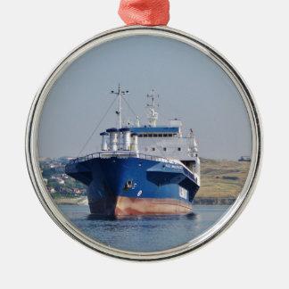 Ferry Kale Nakliyat-3 Silver-Colored Round Decoration