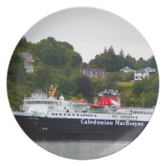 Ferry, Oban, western Scotland Plate