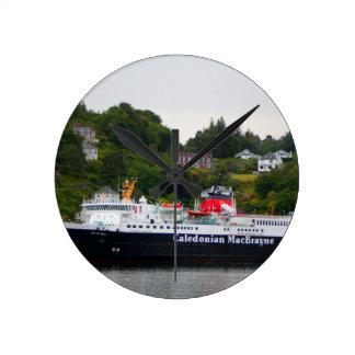 Ferry, Oban, western Scotland Round Clock