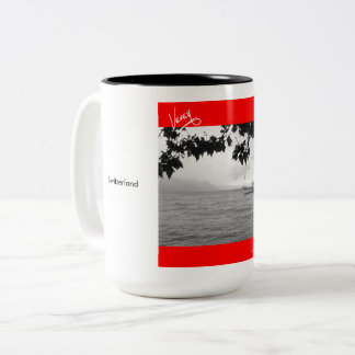 Ferry on Lac Léman Two-Tone Coffee Mug
